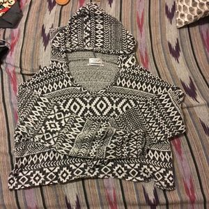 Cropped Hooded Sweater